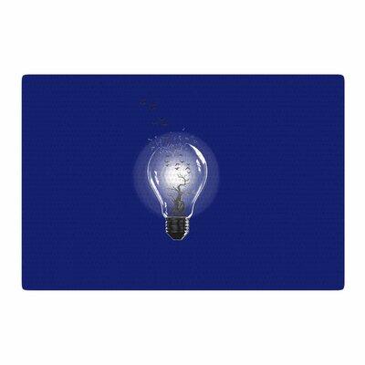 BarmalisiRTB Bulb Blue/White Area Rug Rug Size: 2 x 3