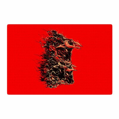 BarmalisiRTB Bull Abstract Red Area Rug Rug Size: 4 x 6