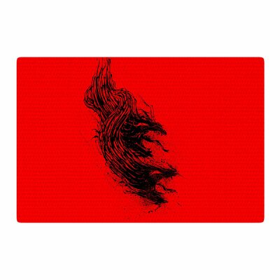 BarmalisiRTB Came From Hell Digital Red Area Rug Rug Size: 4' x 6'