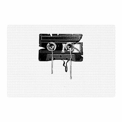 BarmalisiRTB Cassette Memories Black/White Area Rug Rug Size: 2 x 3