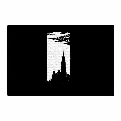 BarmalisiRTB Chrysler Building Black/White Area Rug Rug Size: 2 x 3