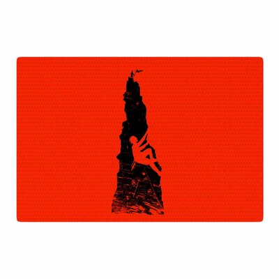 BarmalisiRTB Climbing Black/Red Area Rug Rug Size: 4 x 6