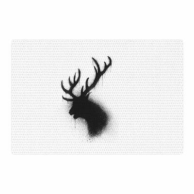 BarmalisiRTB Dark Deer Black/White Area Rug Rug Size: 2 x 3