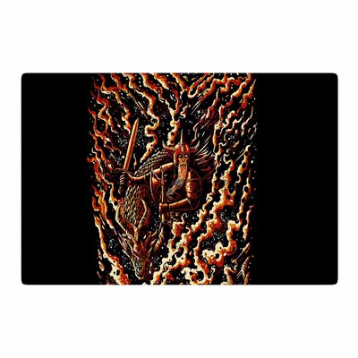 BarmalisiRTB Defense Abstract Black Area Rug Rug Size: 2 x 3