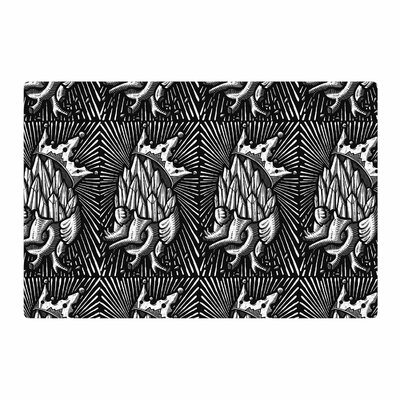 BarmalisiRTB Diamond Heart Black/White Area Rug Rug Size: 2 x 3