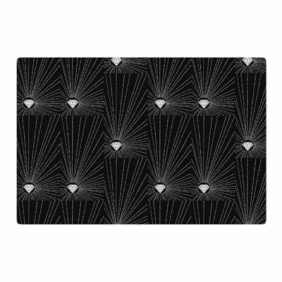BarmalisiRTB Diamond Black/White Area Rug Rug Size: 2 x 3