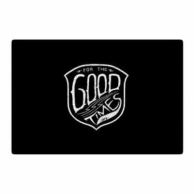 BarmalisiRTB For the Good Time Digital Black Area Rug Rug Size: 4 x 6