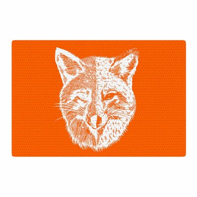 BarmalisiRTB Foxface Digital Orange Area Rug Rug Size: 2 x 3