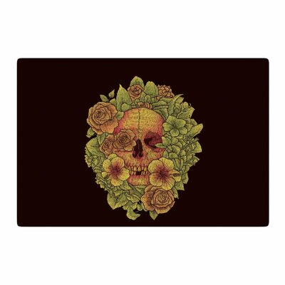 BarmalisiRTB Fragrant Dead Illustration Green Area Rug Rug Size: 2 x 3