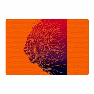 BarmalisiRTB Furious+ Animals Orange Area Rug Rug Size: 2 x 3