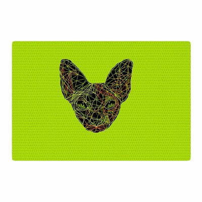 BarmalisiRTB Geometry Sphynx Animals Green Area Rug Rug Size: 4 x 6