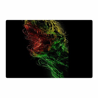BarmalisiRTB Killing Machine Digital Green Area Rug Rug Size: 4 x 6