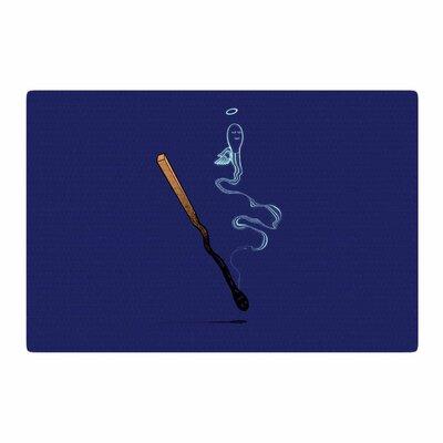 BarmalisiRTB Matches Fantasy Blue Area Rug Rug Size: 4 x 6