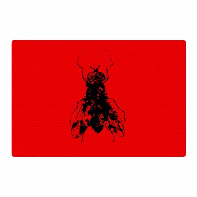 BarmalisiRTB The Fly Black/Red Area Rug Rug Size: 2 x 3
