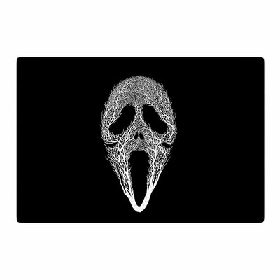 BarmalisiRTB The Scream Tree Black/White Area Rug Rug Size: 2 x 3