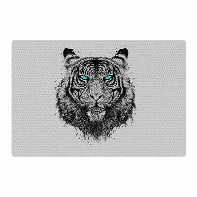BarmalisiRTB Tiger Gaze Black/Gray Area Rug Rug Size: 4 x 6