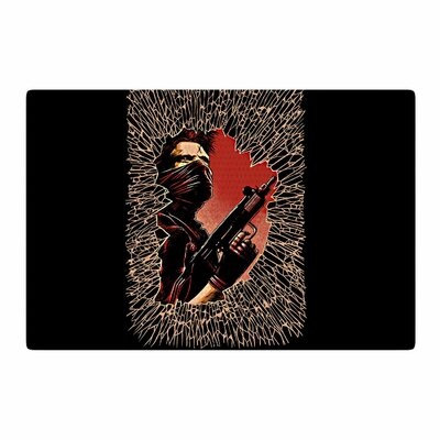 Barmalisirtb War Is Over Black/Red Area Rug Rug Size: 2 x 3