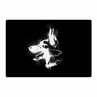 Barmalisirtb Watchdog Black/White Area Rug Rug Size: 2 x 3