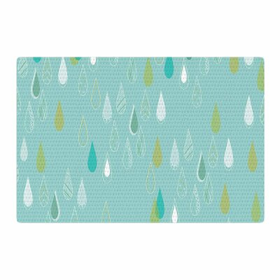 Bridgette Burton Feathered Rain Teal/Gold Area Rug Rug Size: 2 x 3