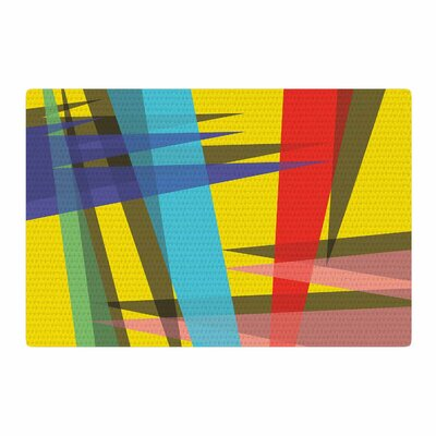 Bruce Stanfield Ambient 19 Yellow Blue/Red Area Rug Rug Size: 4 x 6