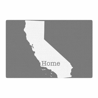 Bruce Stanfield California Is Home Gray/White Area Rug Rug Size: 4 x 6