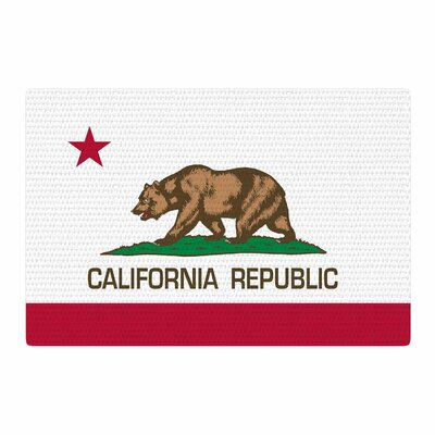Bruce Stanfield California State Flag Red/White Area Rug Rug Size: 2 x 3