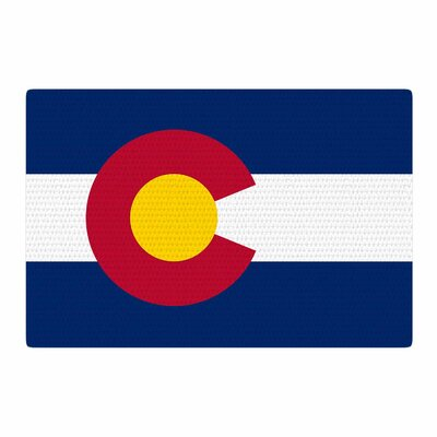 Bruce Stanfield Colorado State Flag Blue/Red Area Rug Rug Size: 2 x 3
