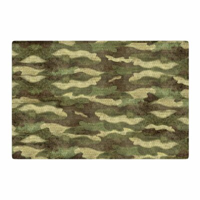 Bruce Stanfield Dirty Camo Green/Beige Area Rug Rug Size: 4 x 6