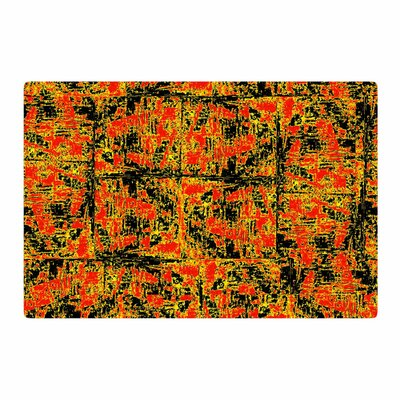 Bruce Stanfield Golden Red Gold/Red Area Rug Rug Size: 4 x 6