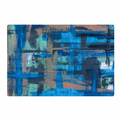 Bruce Stanfield Hyper Blue Painting Blue/Beige Area Rug Rug Size: 2 x 3