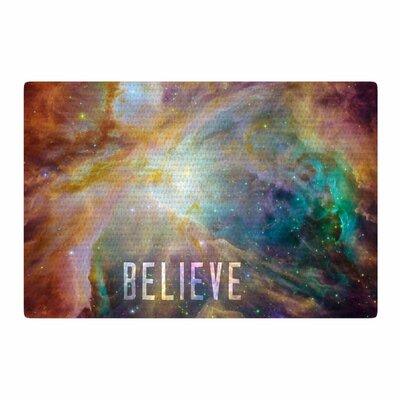 Bruce Stanfield Orion Nebula Believe Blue/Orange Area Rug Rug Size: 2 x 3