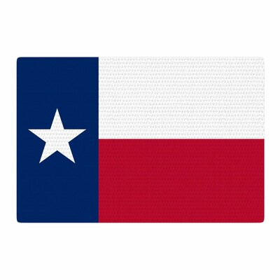 Bruce Stanfield Texas Flag Red/Blue Area Rug Rug Size: 4 x 6