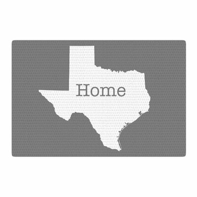 Bruce Stanfield Texas Is Home White/Gray Area Rug Rug Size: 2 x 3