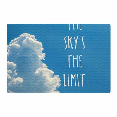Bruce Stanfield the Skys the Limit Square Typography Blue/White Area Rug Rug Size: 2 x 3