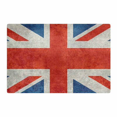 Bruce Stanfield UK Union Jack Flag Red/Blue Area Rug Rug Size: 2 x 3
