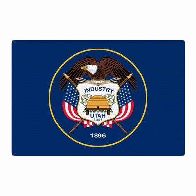 Bruce Stanfield Utah State Flag Authentic Blue/Red Area Rug Rug Size: 4 x 6