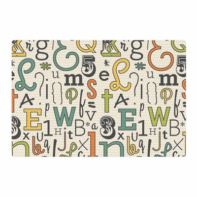 Busy Bree ABC Letters Beige Area Rug Rug Size: 4 x 6
