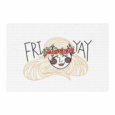 Busy Bree Fri Yay People Yellow Area Rug Rug Size: 4 x 6