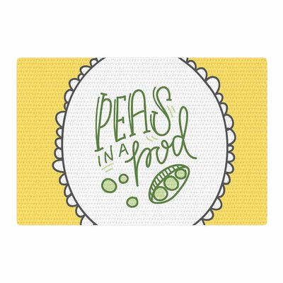 Busy Bree Peas Yellow/Green Area Rug Rug Size: 4 x 6