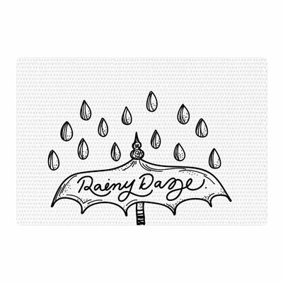 Busy Bree Rainy Daze Black/White Area Rug Rug Size: 2 x 3