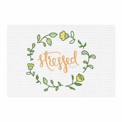 Busy Bree Stressed Out Floral Green Area Rug Rug Size: 4 x 6
