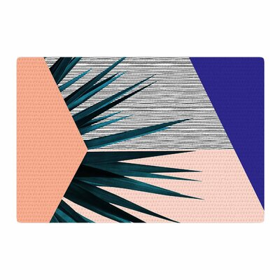 Cafelab Summer Geometry Blue/Coral Area Rug Rug Size: 4 x 6