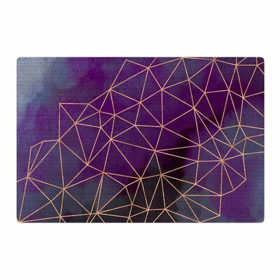 Cafelab Watercolor Storm Purple/Gold Area Rug Rug Size: 4 x 6