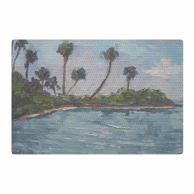 Carol Schiff Blue Lagoon Aqua/Green Area Rug Rug Size: 2 x 3