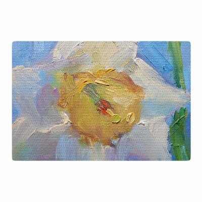 Carol Schiff Daffodil Day Yellow/Blue Area Rug Rug Size: 2 x 3