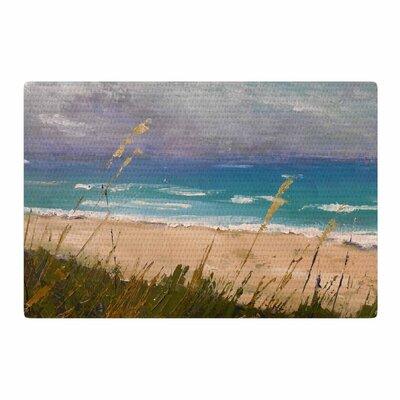 Carol Schiff Florida Beach Scene Coastal/Blue Area Rug Rug Size: 4 x 6