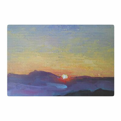 Carol Schiff Mountain Sunset Orange/Nature Area Rug Rug Size: 2 x 3