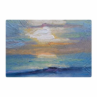 Carol Schiff Ocean Sunset Blue/Coastal Area Rug Rug Size: 4 x 6