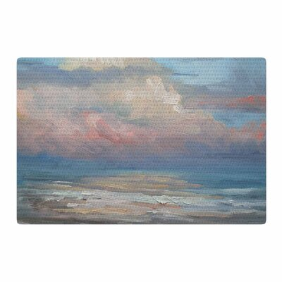Carol Schiff Pink Clouds Blue/Gray Area Rug Rug Size: 4 x 6