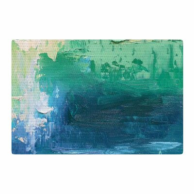 Carol Schiff Sea Music Painting Teal Area Rug Rug Size: 2 x 3